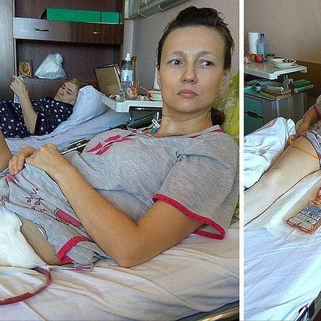 Жительница Подольска, оставшаяся из-за рака без ноги, боится, что ее могут лишить родительских прав