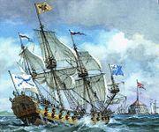 Балтийский флот периода Петра