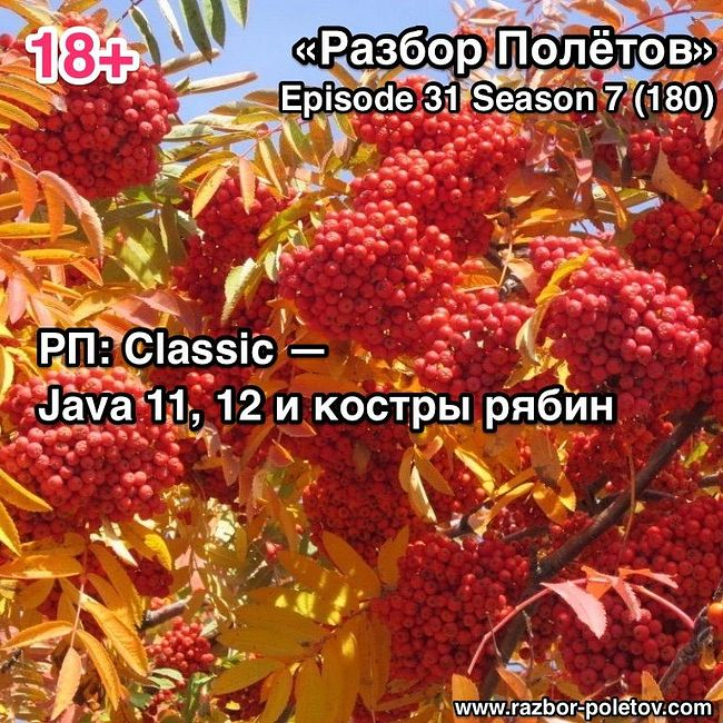 Episode 180 — РП: Classic — Java 11,12 и костры рябин