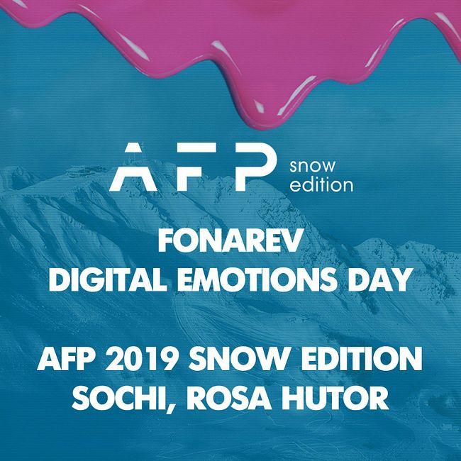 Fonarev - Digital Emotions Day   AFP 2019 Snow  Edition   Sochi Rosa Hutor