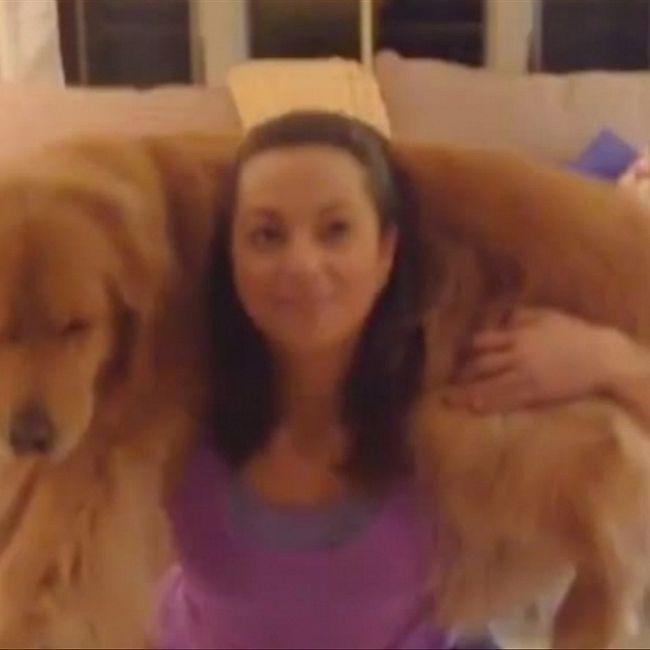 Фитоняша показала, как добиться идеальных бёдер с помощью собаки
