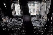 Бывший жилец сгоревшей в центре Москвы квартиры: Там все было из дерева - стены между комнатами, пол, перекрытия