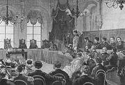 Суд над Михаилом Андреевым пообвинению вубийстве жены, Российская империя, 1907