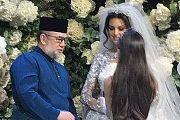 Король Малайзии Султан Муххамед V женился на «Мисс Москва–2015» Оксане Воеводиной