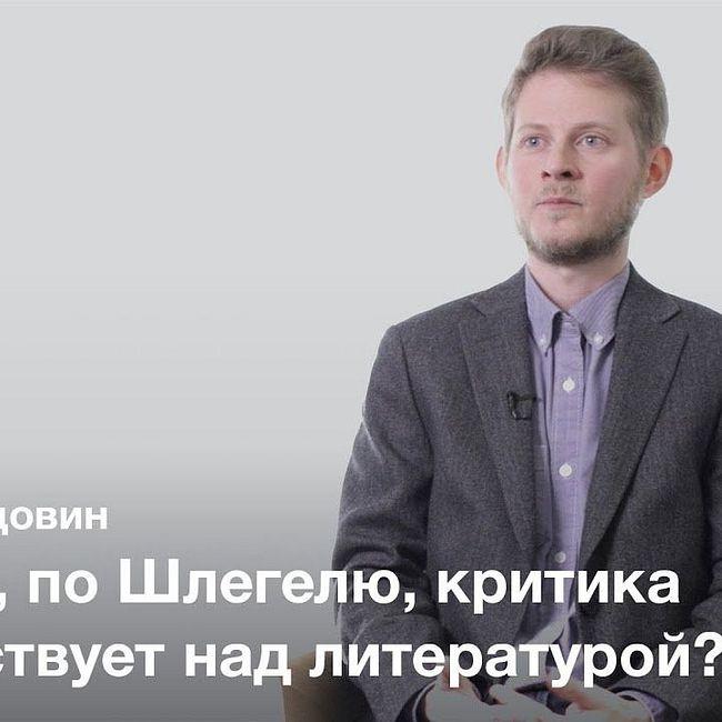 Рождение современной литературной критики — Алексей Вдовин