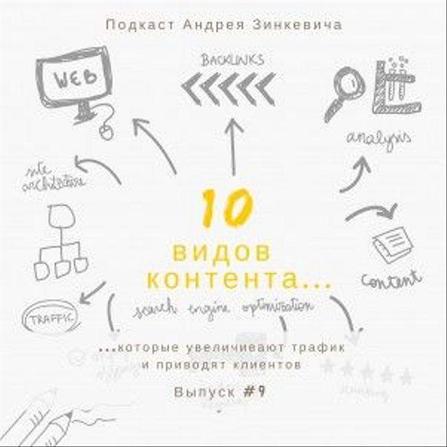 Выпуск №9 - Десять видов контента, которые увеличивают трафик и приводят клиентов