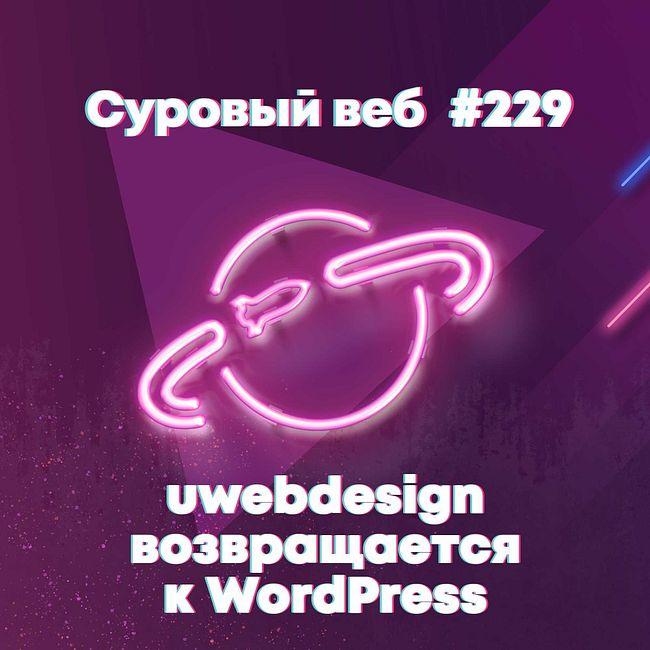 [#229] uwebdesign возвращается к WordPress темам