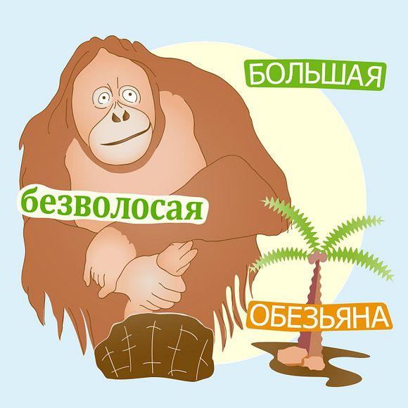 Большая безволосая обезьяна